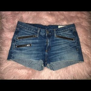 Dark Wash Rag & Bone Denim Shorts